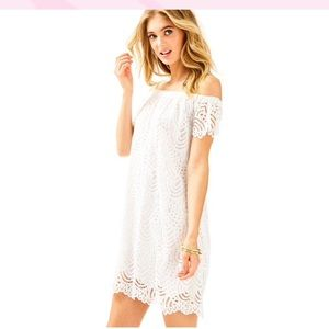 Lilly Pulitzer Off the Shoulder Lace Dress